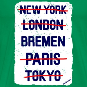 NY London Bremen..., Francisco Evans ™ T-shirts - Herre premium T-shirt