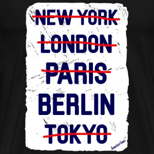 NY London Berlin..., Francisco Evans ™ T-skjorter - Premium T-skjorte for menn