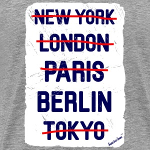 NY London Berlin..., Francisco Evans ™ T-shirts - Mannen Premium T-shirt