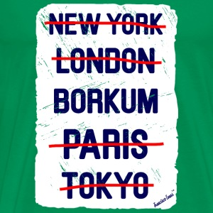 NY London Borkum..., Francisco Evans ™ T-shirts - Herre premium T-shirt