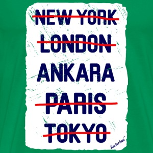 NY London Ankara..., Francisco Evans ™ T-shirts - Mannen Premium T-shirt