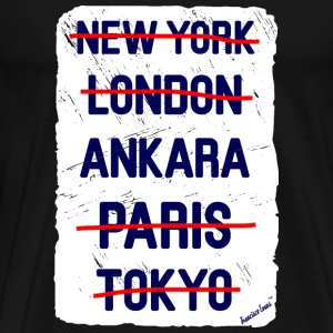 NY London Ankara..., Francisco Evans ™ T-skjorter - Premium T-skjorte for menn