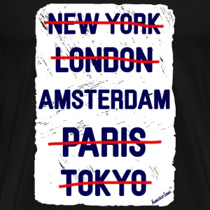 NY London Amsterdam..., Francisco Evans ™ T-shirts - Mannen Premium T-shirt