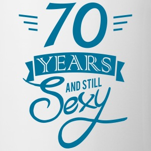70 years and still sexy Mugs & Drinkware - Mug