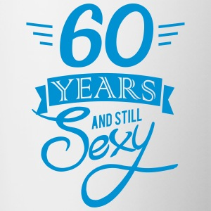 60 years and still sexy Mugs & Drinkware - Contrasting Mug