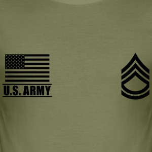 Sergeant First Class SFC US Army, Mision Militar ™ T-skjorter - Slim Fit T-skjorte for menn