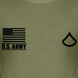 Private First Class PFC US Army, Mision Militar ™ T-Shirts - Men's Slim Fit T-Shirt