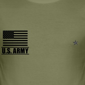 Brigadier General BG US Army, Mision Militar ™ T-shirts - Slim Fit T-shirt herr