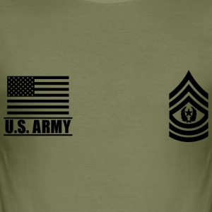 Command Sergeant Major CSM US Army, Mision Militar T-Shirts - Men's Slim Fit T-Shirt
