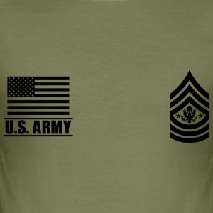 Sergeant Major of the Army SMA US Army T-shirts - Slim Fit T-shirt herr
