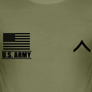 Private PV2 US Army, Mision Militar ™ T-Shirts - Männer Slim Fit T-Shirt