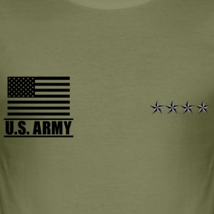 General GEN US Army, Mision Militar ™ T-Shirts - Men's Slim Fit T-Shirt