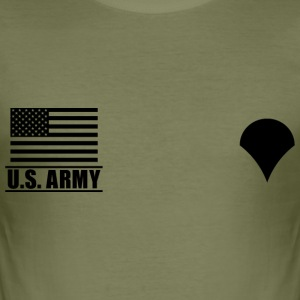 Specialist SPC US Army, Mision Militar ™ T-Shirts - Men's Slim Fit T-Shirt