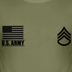 Staff Sergeant SSG US Army, Mision Militar ™ T-Shirts - Men's Slim Fit T-Shirt