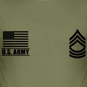 Master Sergeant MSG US Army, Mision Militar ™ T-Shirts - Männer Slim Fit T-Shirt