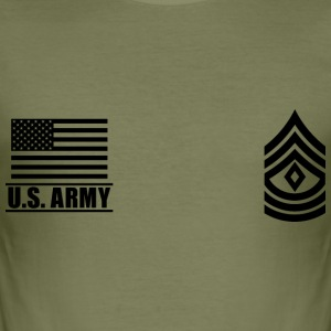 First Sergeant 1SG US Army, Mision Militar ™ T-shirts - Herre Slim Fit T-Shirt