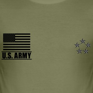 General of the Army GA US Army, Mision Militar ™ T-shirts - Slim Fit T-shirt herr
