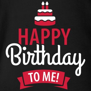 Happy birthday to me! Babybody - Økologisk kortermet baby-body