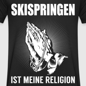 Ski jumping - my religion T-Shirts - Men's V-Neck T-Shirt