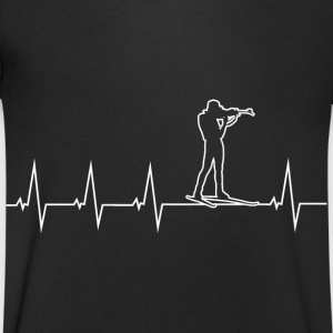 I love biathlon T-Shirts - Men's V-Neck T-Shirt