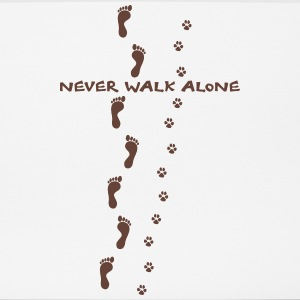 never walk alone hund mensch spuren Sonstige - Mousepad (Querformat)