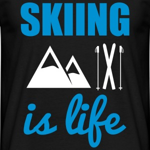 Skiing is life - Ski t-shirt - Männer T-Shirt