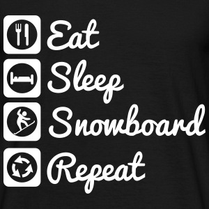 Eat sleep snowboarding repeat - snowboard shirt  - Männer T-Shirt