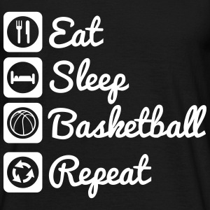 Eat,sleep,basketball,repeat - Basket T-shirt - Camiseta hombre