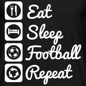 Eat,seep,football,repeat - soccer t-shirt - Männer T-Shirt