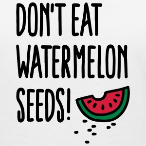 Don't eat watermelon seeds T-shirts - Vrouwen T-shirt met V-hals