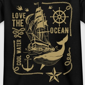 LOVE THE OCEAN #3 T-Shirts - Teenager T-Shirt