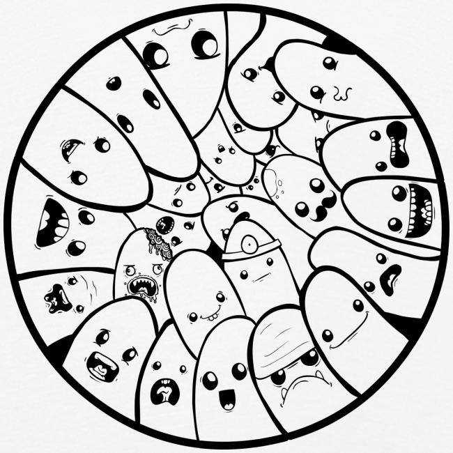 Doodle Fingers - Børne premium T-shirt