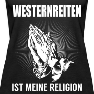 Western riding - my religion Tops - Women's Premium Tank Top