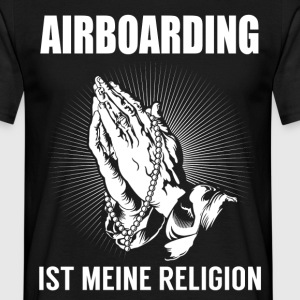 Airboarding - min religion T-shirts - T-shirt herr