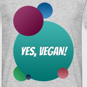 Yes, vegan! T-Shirts - Männer T-Shirt
