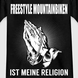 Freestyle mountain cykling - min religion T-shirts - T-shirt barn