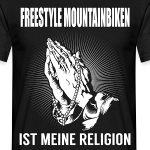 Freestyle mountain cykling - min religion T-shirts - T-shirt herr