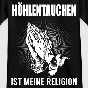 Cave dykning - min religion T-shirts - Børne-T-shirt
