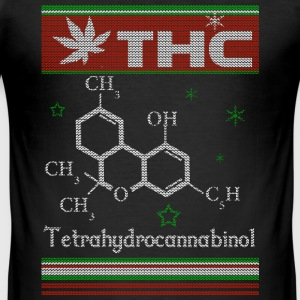 WEED CHRISTMAS SWEATER T-Shirts - Männer Slim Fit T-Shirt
