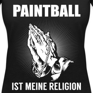 Paintball - ma religion Tee shirts - T-shirt col V Femme