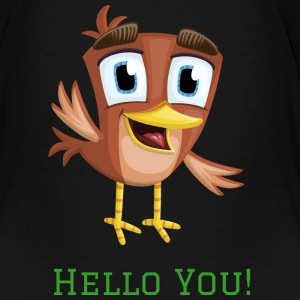Netter Vogel sagt Hallo! T-Shirts - Teenager Premium T-Shirt