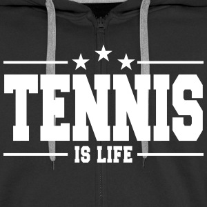 tennis is life 1 Hoodies & Sweatshirts - Men's Premium Hooded Jacket