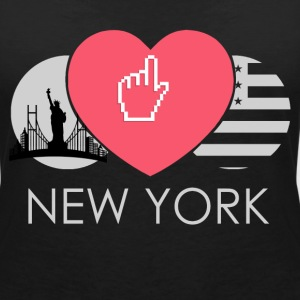IN LOVE WITH NEW YORK T-Shirts - Frauen T-Shirt mit V-Ausschnitt