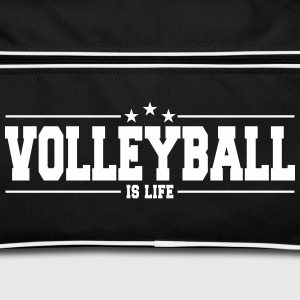 volleyball is life 1 Bags & Backpacks - Retro Bag