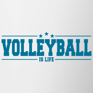 volleyball is life 1 Mugs & Drinkware - Contrasting Mug