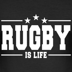 rugby is life 1 T-shirts - slim fit T-shirt