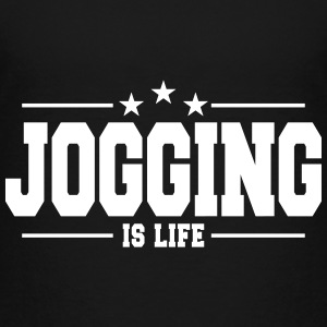 jogging is life 1 T-shirts - Premium-T-shirt barn