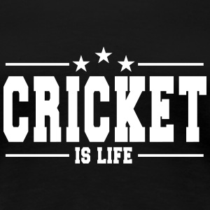 cricket is life 1 T-Shirts - Women's Premium T-Shirt