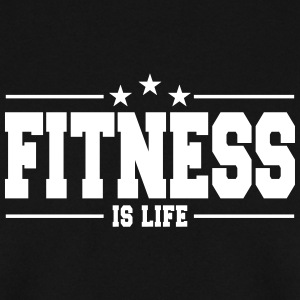fitness is life 1 Felpe - Felpa da uomo