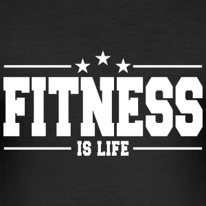 fitness is life 1 T-shirts - Slim Fit T-shirt herr